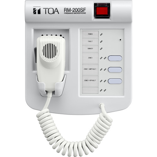 Toa Electronics RM-200SF Fireman Remote Microphone for SX-2000 Series Voice Evacuation System