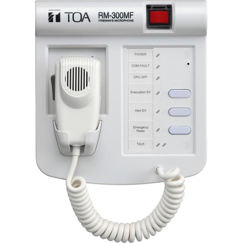 Toa Electronics RM-300MFPS Fireman's Microphone for VM-3000 Series Voice Evacuation System with AD-246 Power Supply