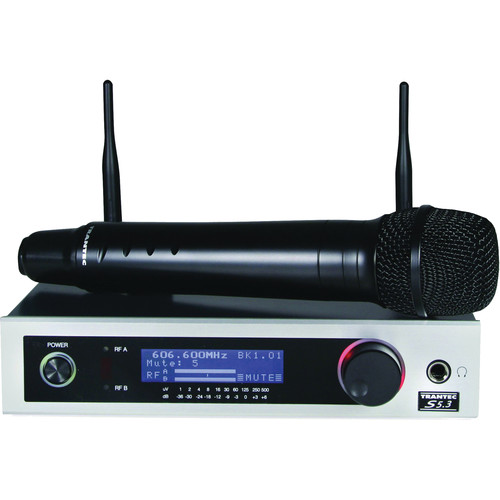 Toa Electronics Trantec S5.3HC 12 Channel Wireless Handheld Condenser Microphone Set (H2, 576 - 606 MHz)