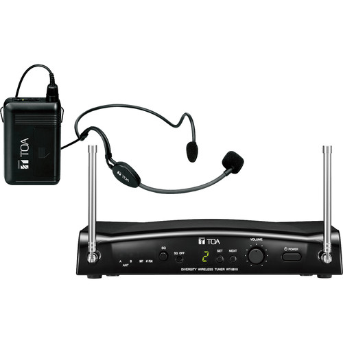 Toa Electronics WS-5325H UHF Wireless Tuner, Transmitter, and Microphone Set (M1: 506 to 538 MHz)