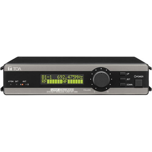 Toa Electronics WT-5800 E01US True Diversity 64-Channel Wireless Tuner (Band E01: 668 to 698 MHz)
