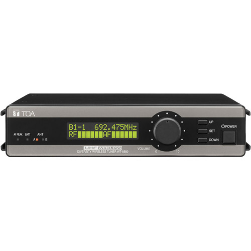 Toa Electronics WT-5800 G02US True Diversity 64-Channel Wireless Tuner