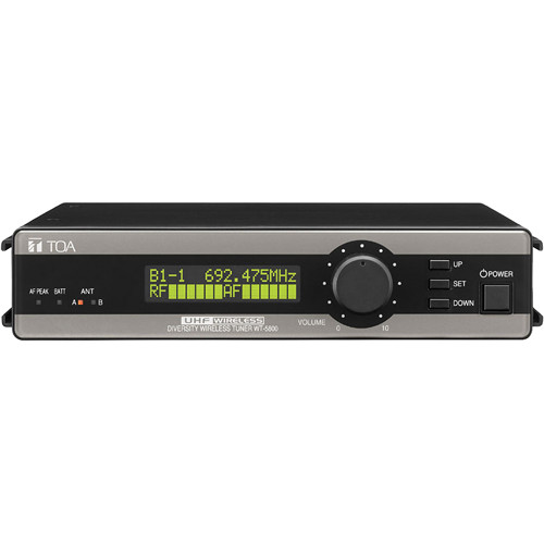 Toa Electronics WT-5800 H01US True Diversity 64-Channel Wireless Tuner (Band H01: 576 to 606 MHz)