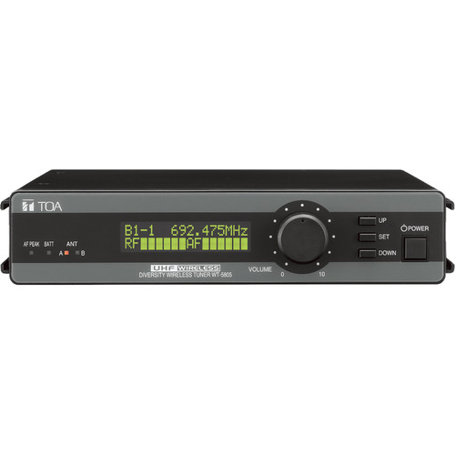 Toa Electronics WT-5805 Wireless 64-Channel UHF Space-Diversity Receiver (Band M: 506 to 538)