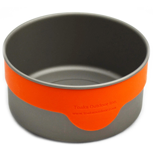 Toaks Outdoor Titanium 100mm Bowl with Silicon Band