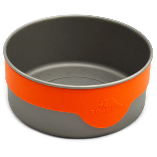 Toaks Outdoor Titanium 106mm Bowl with Silicon Band