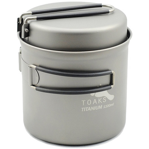 Toaks Outdoor Titanium 1100mL Pot with Pan
