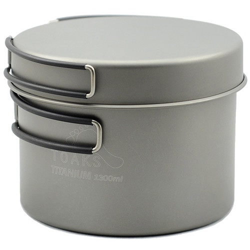 Toaks Outdoor Titanium 1300mL Pot with Pan