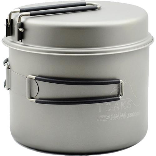 Toaks Outdoor Titanium 1600mL Pot with Pan