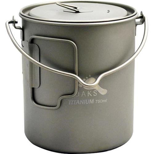 Toaks Outdoor Titanium 750mL Pot Kit with Cutlery Set & FireKnife