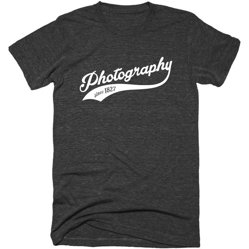 TogTees Men's Photography Since 1827 Tee Shirt (S, Monochrome)