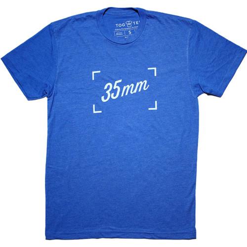 TogTees Men's 35mm Tee Shirt (S, Blue Hour)