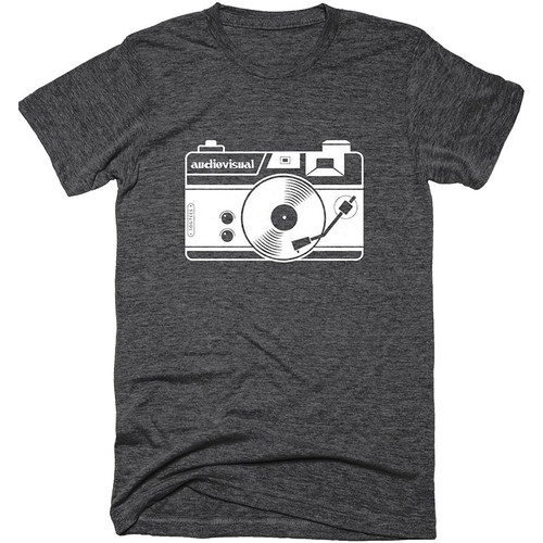 TogTees Audiovisual T-Shirt (Monochrome, Medium)