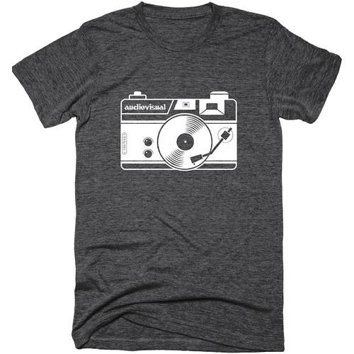TogTees Audiovisual T-Shirt (Monochrome, Small)