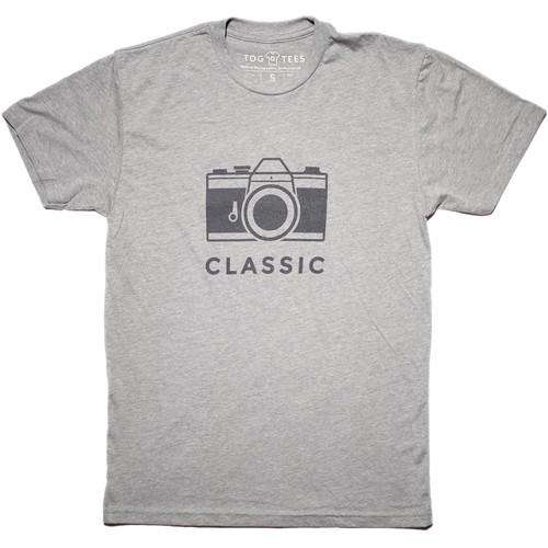 TogTees Men's Classic Tee Shirt (L, 18% Gray)