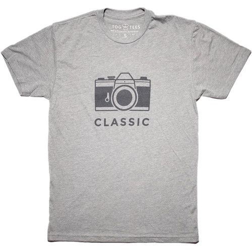 TogTees Men's Classic Tee Shirt (S, 18% Gray)