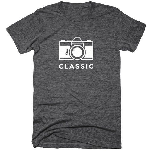 TogTees Men's Classic Tee Shirt (S, Monochrome)