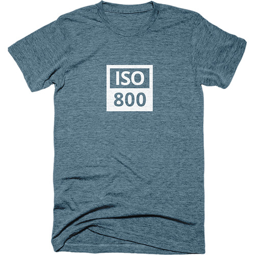 TogTees Men's ISO 800 Tee Shirt (XL, Cyanotype)