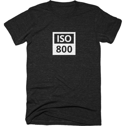TogTees Men's ISO 800 Tee Shirt (L, Monochrome)