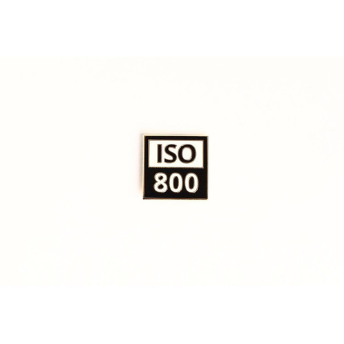 "TogTees ISO 800 Sticker (Black and White, 2 x 2"")"