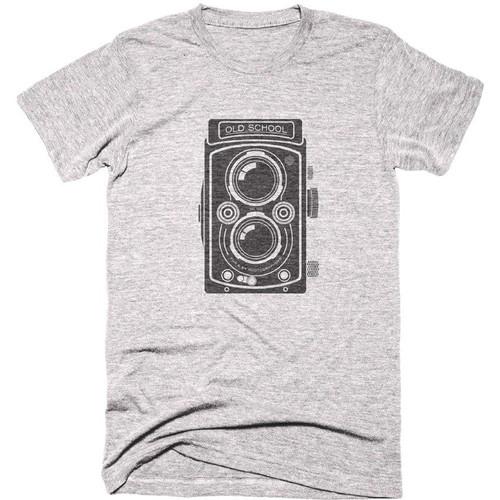 TogTees Men's Old School Tee Shirt (S, 18% Gray)