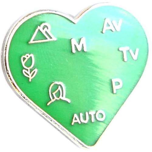 "TogTees PhotoLove Enamel Pin (1 x 7/8"", Greenscreen)"