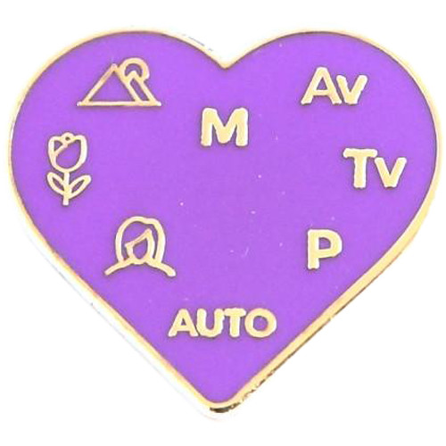"TogTees PhotoLove Enamel Pin (1 x 7/8"", Ultraviolet)"