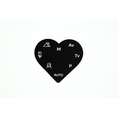 "TogTees PhotoLove Sticker (Black, 3 x 2.75"")"