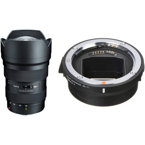 Tokina opera 16-28mm f/2.8 FF Lens for Canon EF with Sigma MC-11 Mount Converter for Sony E Kit