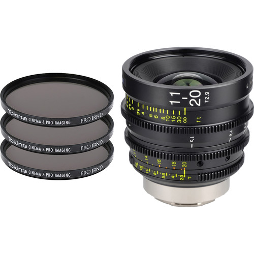 Tokina Cinema ATX 11-20mm T2.9 Zoom Lens & 3 x PRO IRND Filter Kit (EF Mount)