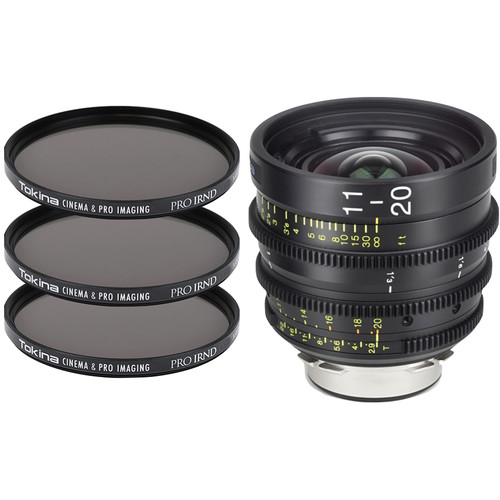 Tokina Cinema ATX 11-20mm T2.9 Zoom Lens & 3 x PRO IRND Filter Kit (LPL Mount)