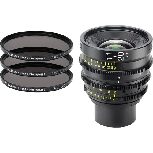 Tokina Cinema ATX 11-20mm T2.9 Zoom Lens & 3 x PRO IRND Filter Kit (MFT Mount)