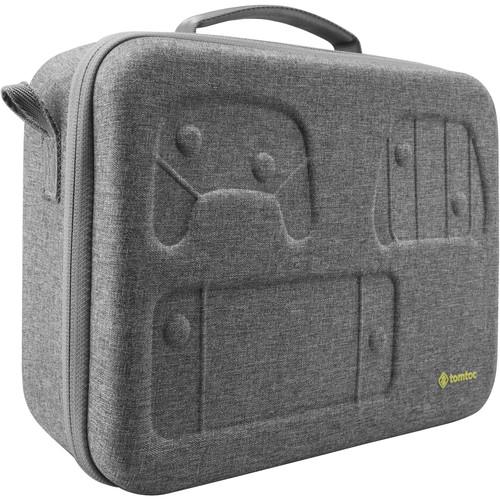 tomtoc Eva Hard Messenger Carry Shoulder Bag for Nintendo Switch Case(Gray)