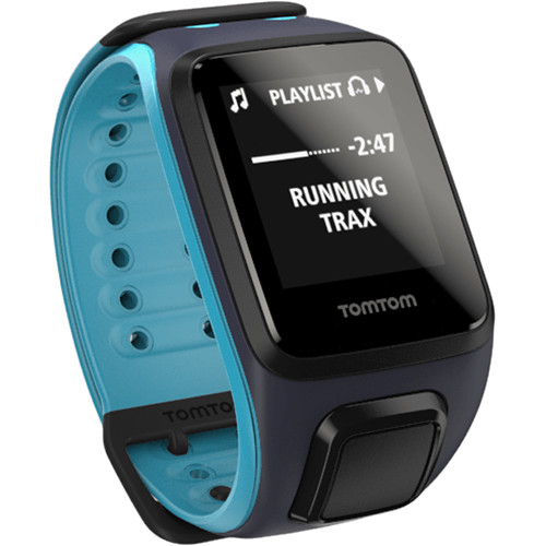 TomTom Spark Music Fitness Watch (Sky Captain Blue/Scuba Blue, Large)