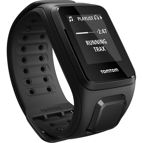 TomTom Spark Cardio + Music Fitness Tracker with Built-In Heart Rate Monitor (Black, Large)
