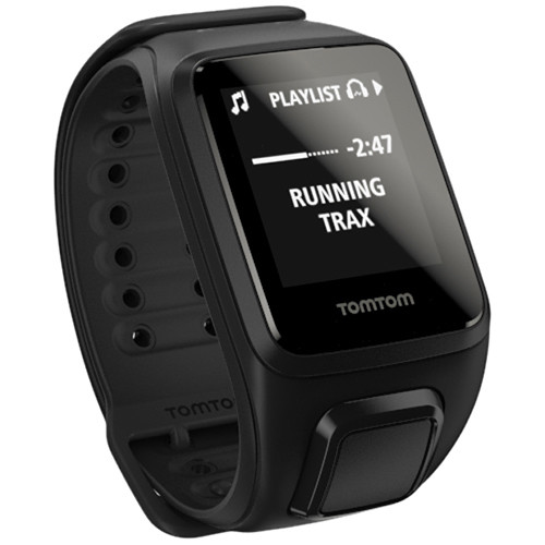 TomTom Spark Cardio + Music Fitness Tracker with Built-In Heart Rate Monitor (Black, Small)