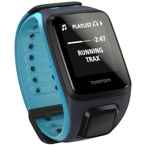 TomTom Spark Cardio + Music Fitness Tracker with Built-In Heart Rate Monitor (Sky Captain/Scuba Blue, Large)