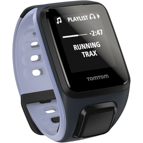 TomTom Spark Cardio + Music Fitness Tracker with Built-In Heart Rate Monitor (Sky Captain Blue/Purple Haze, Small)
