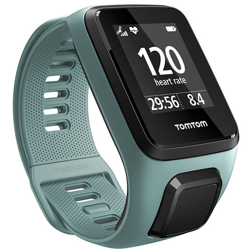 TomTom Spark 3 Cardio Fitness Tracker with Built-In Heart Rate Monitor (Aqua, Small)