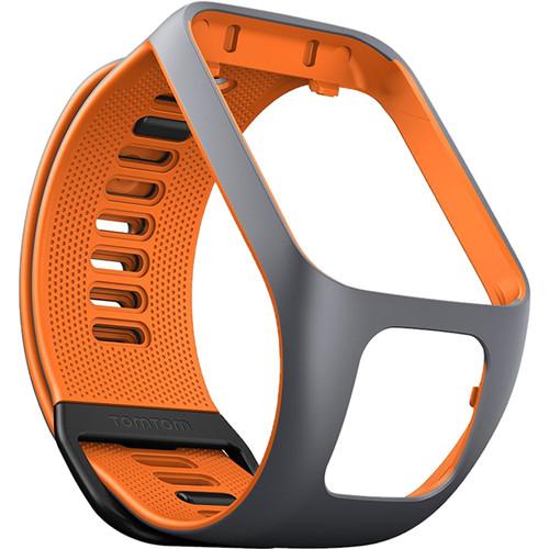 TomTom Spark 3 Watch Strap (Large, Gray/Orange)