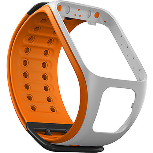 TomTom Replacement Band for Spark Fitness Watch (Light Gray/Burnt Orange, Large)