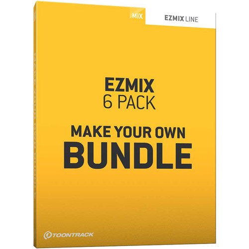 Toontrack EZmix 2 6-Pack Bundle - Self-Selected Mixing Software for Pro Audio Applications (Download)