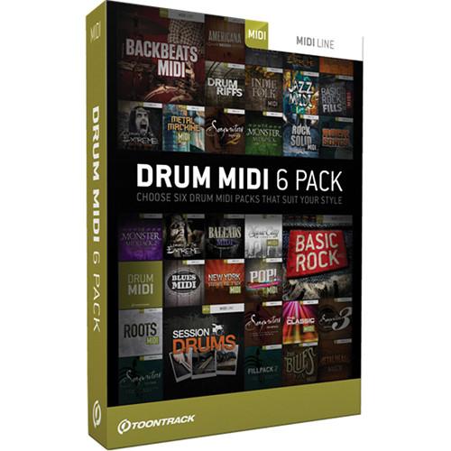 toontrack pick six drum midi pack tt036 b h photo video. Black Bedroom Furniture Sets. Home Design Ideas