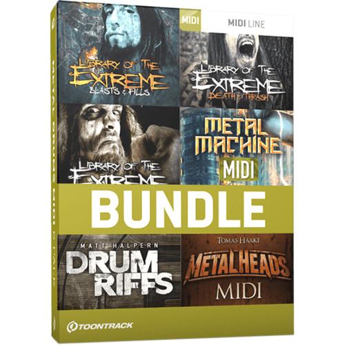 Toontrack Metal Drums MIDI 6 Pack - MIDI Files for Metal Music Production