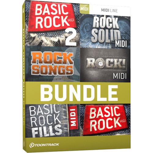 Toontrack Rock Drums MIDI 6 Pack - Drum MIDI Packs (Download)