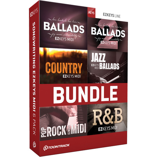 Toontrack Songwriting EZkeys MIDI 6 Pack (Download)