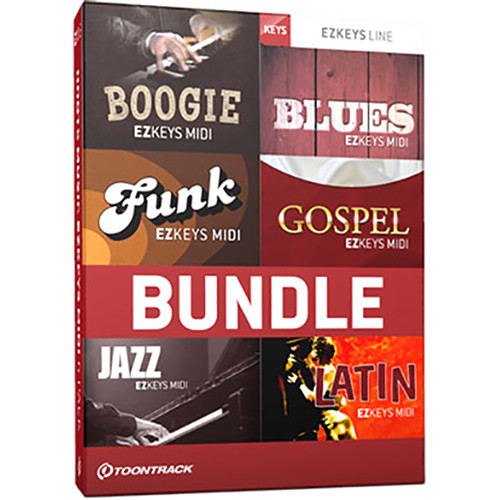 Toontrack Roots Music EZkeys MIDI 6 Pack - Piano/Keyboard MIDI Packs (Download)