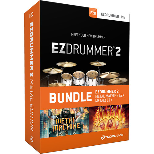 Toontrack EZdrummer 2 Metal Edition - Virtual Drum Module with Sound Libraries Bundle (Download)