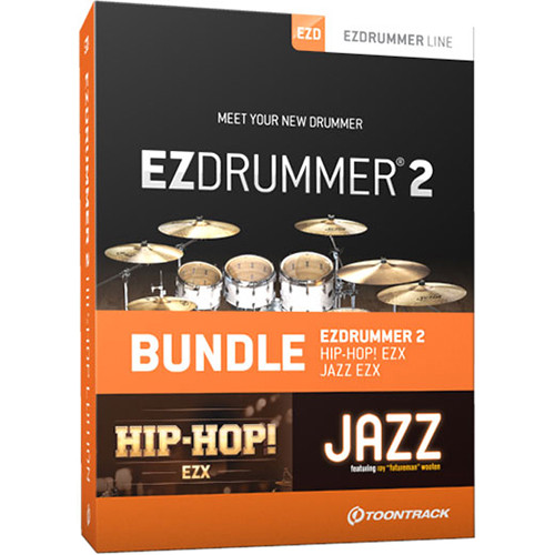 Toontrack EZdrummer 2 Hip-Hop Edition - Virtual Drums and 2 Sound Libraries Bundle (Download)