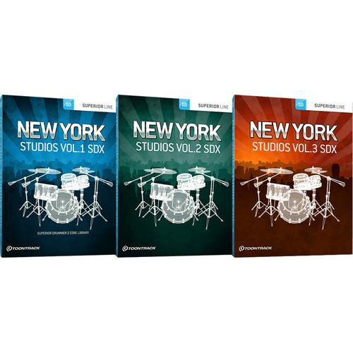 Toontrack New York Studios SDX Bundle - Expansions for Superior Drummer 3 (Download)